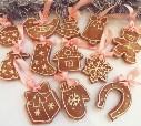 Расписные прянички, которыми мы украсили ёлку)