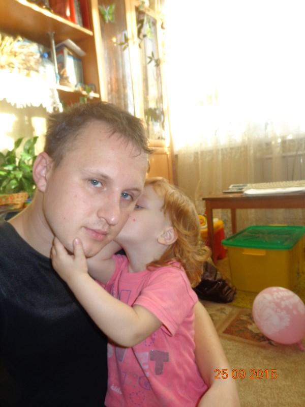 Со старшей дочкой)