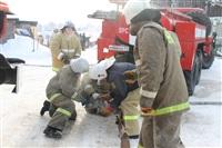 Пожар в жилом бараке, Щекино. 23 января 2014, Фото: 2