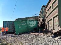 В Тульской области грузовой поезд сошел с рельсов, Фото: 34