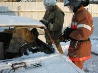 В Щекино спасатели ликвидировали последствия условного ДТП, Фото: 1