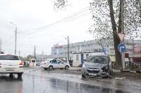 На Рязанском шоссе «Хёндэ» столкнулась с микроавтобусом, Фото: 2