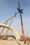 Установка копии Ла-5ФН на несущую опору мемориала «Защитникам неба Отечества» , Фото: 20