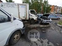 Двойная авария в Пролетарском районе Тулы, Фото: 1