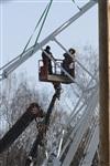 Монтаж колеса обозрения в ЦПКиО. 25 февраля 2014, Фото: 15