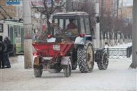В Туле применяют новый реагент для обработки тротуаров, Фото: 1