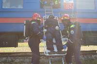 Горящий поезд: учения МЧС 23 сентября , Фото: 9