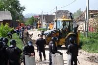В Плеханово начали сносить дома в цыганском таборе, Фото: 93