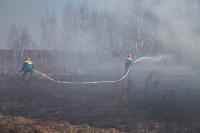 В Белевском районе провели учения по тушению лесных пожаров, Фото: 9