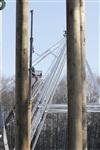 Монтаж колеса обозрения в ЦПКиО. 25 февраля 2014, Фото: 13