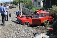 В Узловском районе поезд протаранил легковушку, Фото: 10