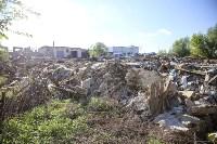 Незаконную свалку на берегу Тулицы спрятали под грудой земли, Фото: 12