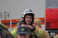 Тульские пожарные провели соревнования по бегу на 22-этаж, Фото: 7