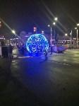 На входе на площадь Ленина установили светящийся шар, Фото: 4
