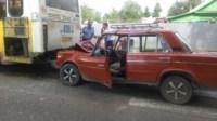 На ул. Циолковского «шестёрка» протаранила автобус №1, Фото: 3