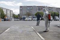 Тульские спасатели продезинфицировали автовокзал «Восточный», Фото: 28