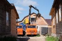 В Плеханово начали сносить дома в цыганском таборе, Фото: 104
