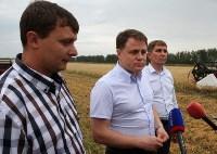Владимир Груздев во время уборочной кампании в Куркинском районе, Фото: 6