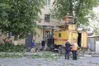 Упало дерево на провода на ул. Оборонной, Фото: 4