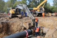 Как ведется монтаж водовода, питающего водой Пролетарский округ Тулы. Фото, Фото: 21