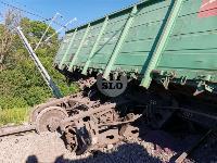 В Тульской области грузовой поезд сошел с рельсов, Фото: 17