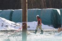 Монтаж колеса обозрения в ЦПКиО. 25 февраля 2014, Фото: 17