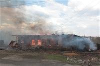 На Калужском шоссе загорелся жилой дом, Фото: 20