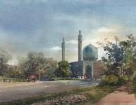Соборная Мечеть Санкт-Петербурга. 52х68 см. Бумага, акварель, Фото: 12