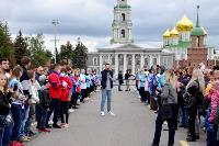 Толпа туляков взяла в кольцо прилетевшего на вертолете Леонида Якубовича, чтобы получить мороженное, Фото: 14