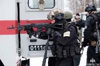 Учения: В Тульской области СОБР и ОМОН обезвредили вооруженных преступников, Фото: 11
