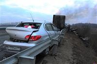 Причиной массового ДТП под Тулой стал дым с горящих полей, Фото: 7