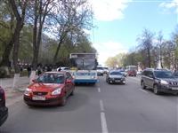 Пассажиры троллейбуса, совершившего наезд на авто и пешеходов, не пострадали, Фото: 4