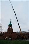 Утром 15 ноября в Тулу привезли шпиль для колокольни Успенского собора, Фото: 14