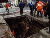 Порыв водопровода на пр. Ленина 4 апреля 2014, Фото: 2