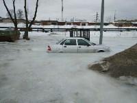 """В Туле вмерзла в лед """"Лада"""", Фото: 7"""