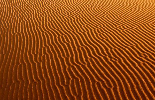 Песок в пустыне Сахара.