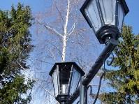 В Комсомольском парке посёлка Заокский испорчены новые фонари, Фото: 1