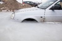 """В Туле вмерзла в лед """"Лада"""", Фото: 23"""