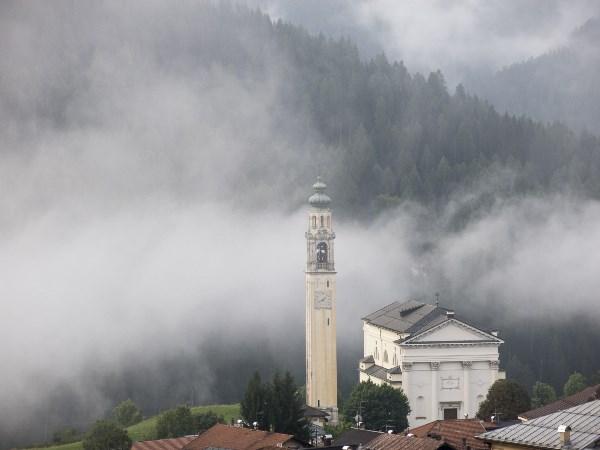 Утренний туман в долине.