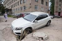 Мерседес провалился в яму, Фото: 4