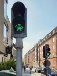 Сигналы светофора в датском городе Орхус сделаны в форме маленьких викингов, Фото: 1
