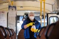 Как в Туле дезинфицируют маршрутки и автобусы, Фото: 18