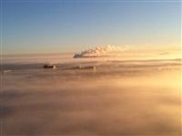 Необычные клубы дыма над заводом. Косая Гора, 21 января 2014, Фото: 13