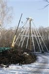 Монтаж колеса обозрения в ЦПКиО. 25 февраля 2014, Фото: 3