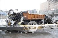 Стрела автокрана раздавила водителя, Фото: 6