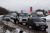 В Туле опрокинувшийся в кювет BMW вытаскивали три джипа, Фото: 20