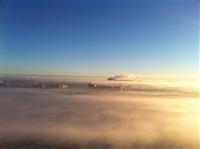 Необычные клубы дыма над заводом. Косая Гора, 21 января 2014, Фото: 5
