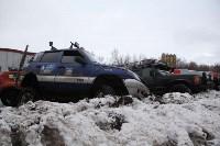 В Туле опрокинувшийся в кювет BMW вытаскивали три джипа, Фото: 21
