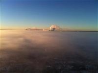 Необычные клубы дыма над заводом. Косая Гора, 21 января 2014, Фото: 12