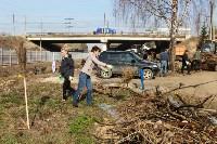Генеральную уборку в Туле на Пролетарской набережной провели работники КБП, Фото: 20